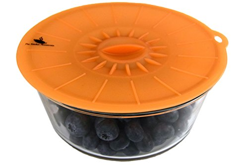 "Pro Kitchen Accessories Silicone Suction Lids [Set of 5] - Airtight Seal - Easy To Apply And Remove - Fit Any Round Container With Flat Rim - Includes 5 ProLids (4"", 6"", 8"",10"", 12"")"