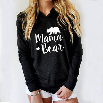 ***NEW Arrival*** Mama Bear Women's Hoodie Long Sleeve T-Shirt