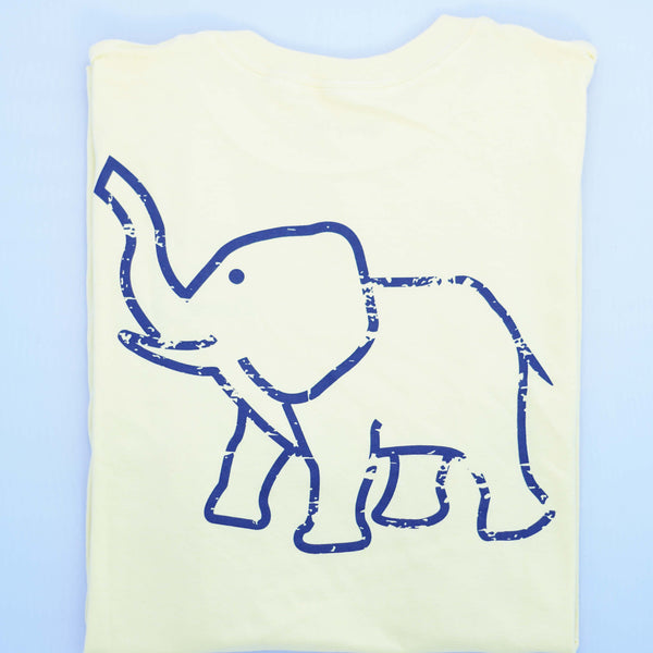 Vintage Elphant Tee - Yellow