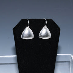 Triangular Small Domed Textured Dangle Earrings
