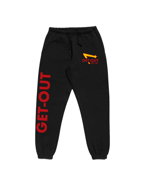 """Get Out Of L.A."" (Black) Sweatpants"