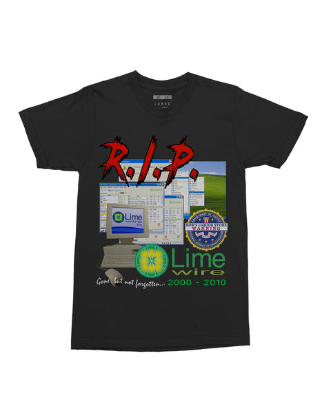 """R.I.P. Lime Wire"" Tee"