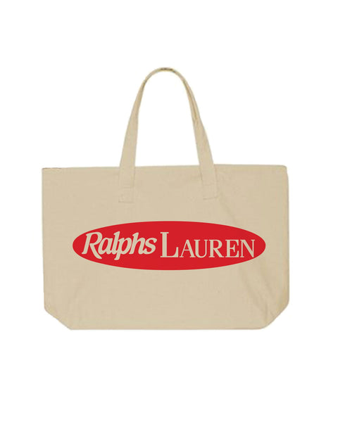 """Ralph's Lauren"" Canvas Tote Bag"