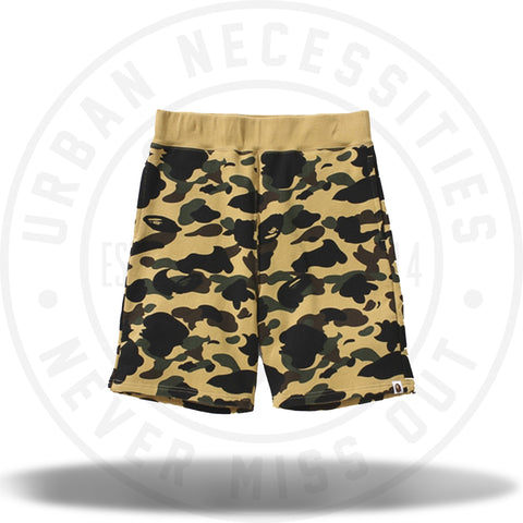 A Bathing Ape 1St Camo Sweat Shorts-Urban Necessities