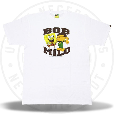 A Bathing Ape Baby Milo x SpongeBob Tee White-Urban Necessities