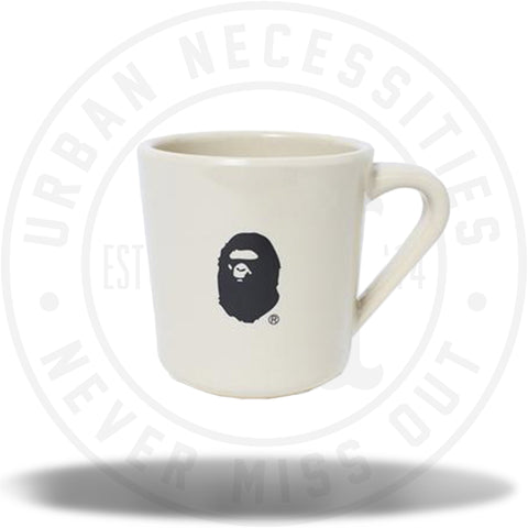 A Bathing Ape Bape Ape Head Mug Beige-Urban Necessities