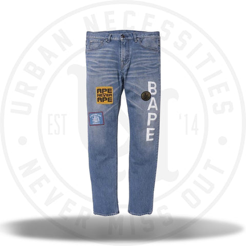 A Bathing Ape Bape Patches Denim Jeans-Urban Necessities