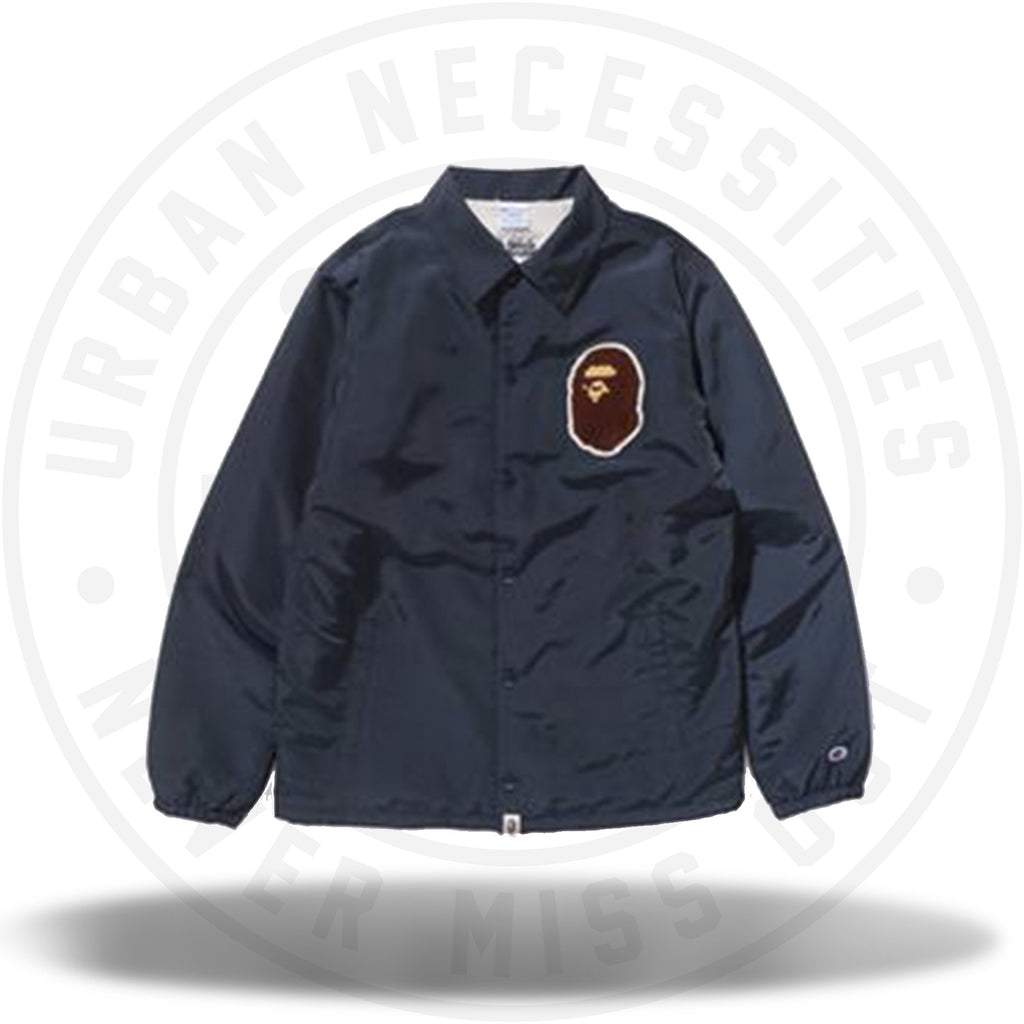 A BATHING APE® X CHAMPION JACKET NAVY-Urban Necessities