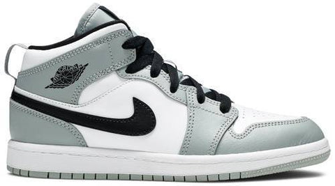 Air Jordan 1 Mid Pre-School 'Light Smoke Grey' - 640734 092-Urban Necessities