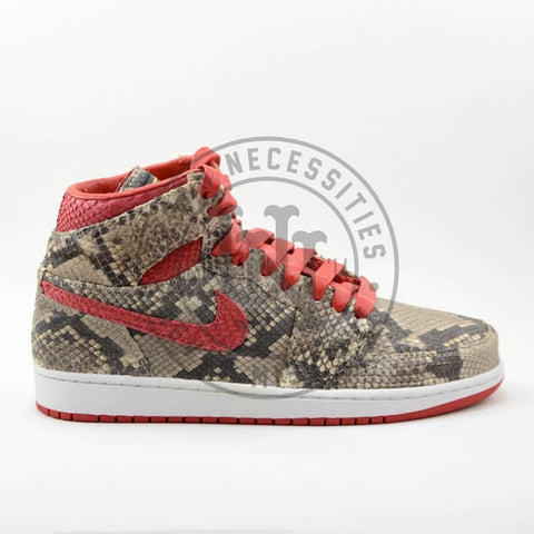 Air Jordan 1 Python Custom Tan/Red-Urban Necessities