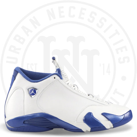 Air Jordan 14 White/Storm Blue OVO 'Gods Plan'-Urban Necessities