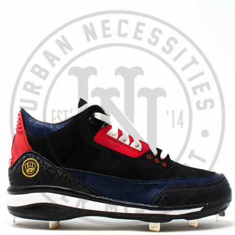 Air Jordan 3 Cleat PE 'Andruw Jones' - JBM411-M16-C1-Urban Necessities