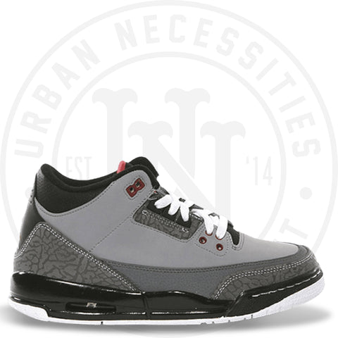 Air Jordan 3 Retro GS 'Stealth' - 398614 003-Urban Necessities
