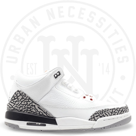 Air Jordan 3 Retro GS 'White Cement' 2011- 398614 105-Urban Necessities