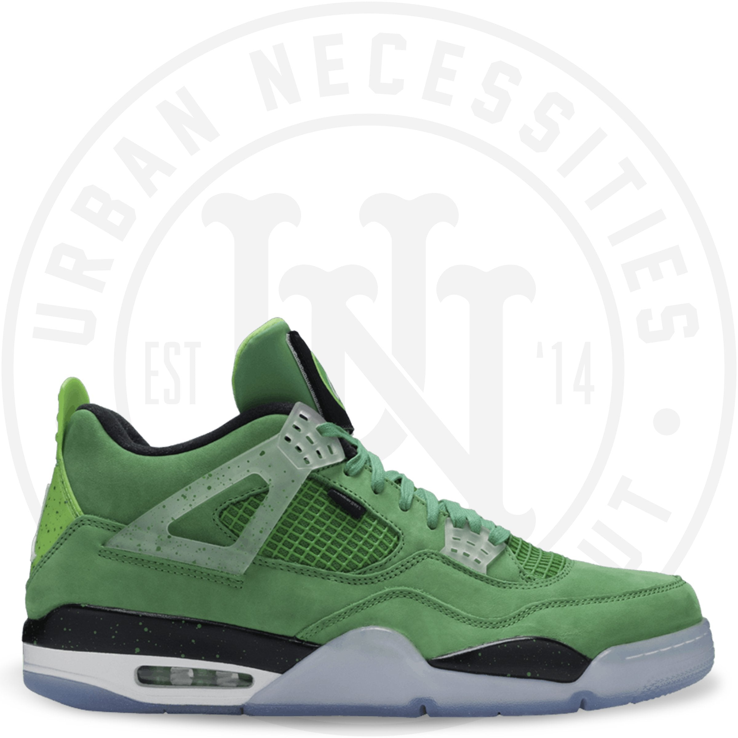 best authentic c63db 15c4b Air Jordan 4 Retro 'Wahlbergers' Apple Green/White -Mean Green-W AJ4-861426