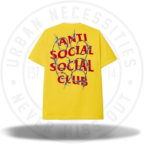 Anti Social Social Club ASSC Barbara Yellow Tee-Urban Necessities
