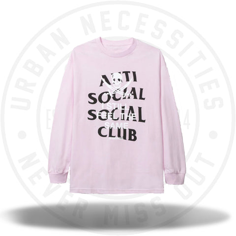 Anti Social Social Club ASSC Black Jack Pink Long Sleeve Tee-Urban Necessities