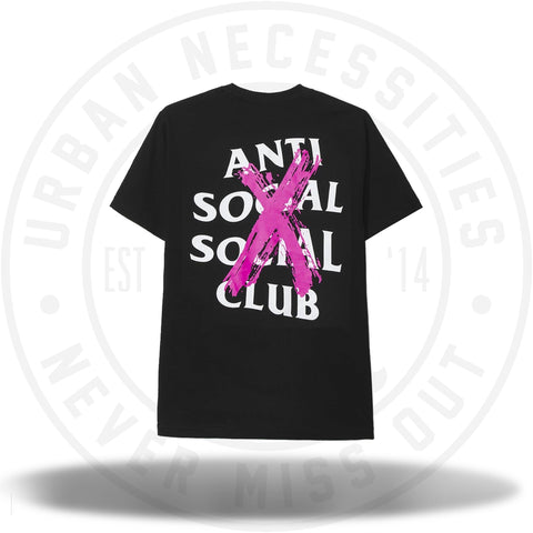 Anti Social Social Club ASSC Cancelled Black Tee-Urban Necessities