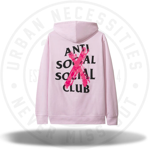Anti Social Social Club ASSC Cancelled Pink Hoodie-Urban Necessities