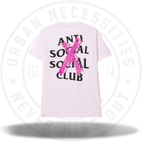Anti Social Social Club ASSC Cancelled Pink Tee-Urban Necessities