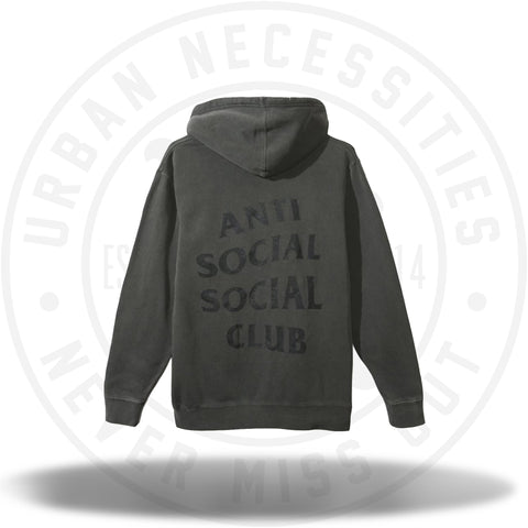 Anti Social Social Club ASSC Ghosted Black Tonal Hoody-Urban Necessities