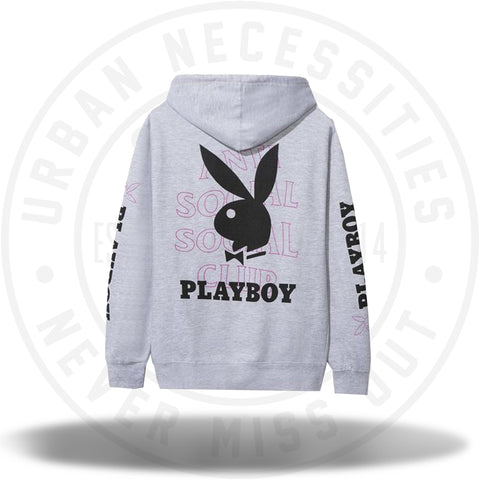 Anti Social Social Club ASSC Playboy Grey Hoodie-Urban Necessities