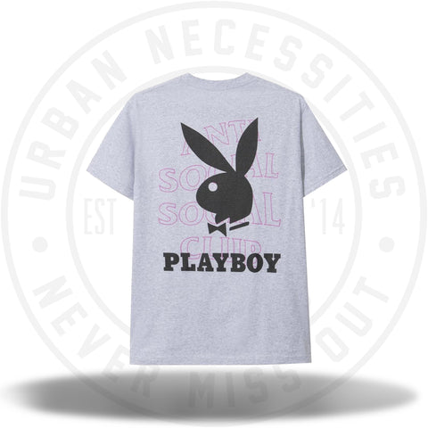 Anti Social Social Club ASSC Playboy Grey Tee-Urban Necessities