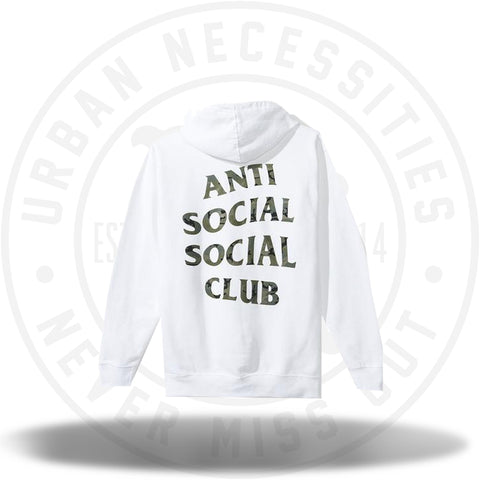Anti Social Social Club ASSC Woody White Hoody-Urban Necessities
