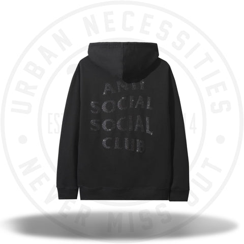 Anti Social Social Club Black/Black Glitter Hoodie-Urban Necessities