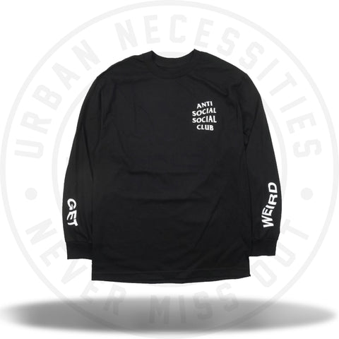 Anti Social Social Club Get Weird Tee Long Sleeve Tee Black-Urban Necessities