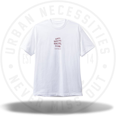Anti Social Social Club Las Vegas White Tee-Urban Necessities