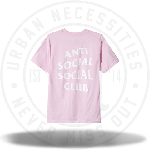 Anti Social Social Club Logo Tee Two Pink-Urban Necessities