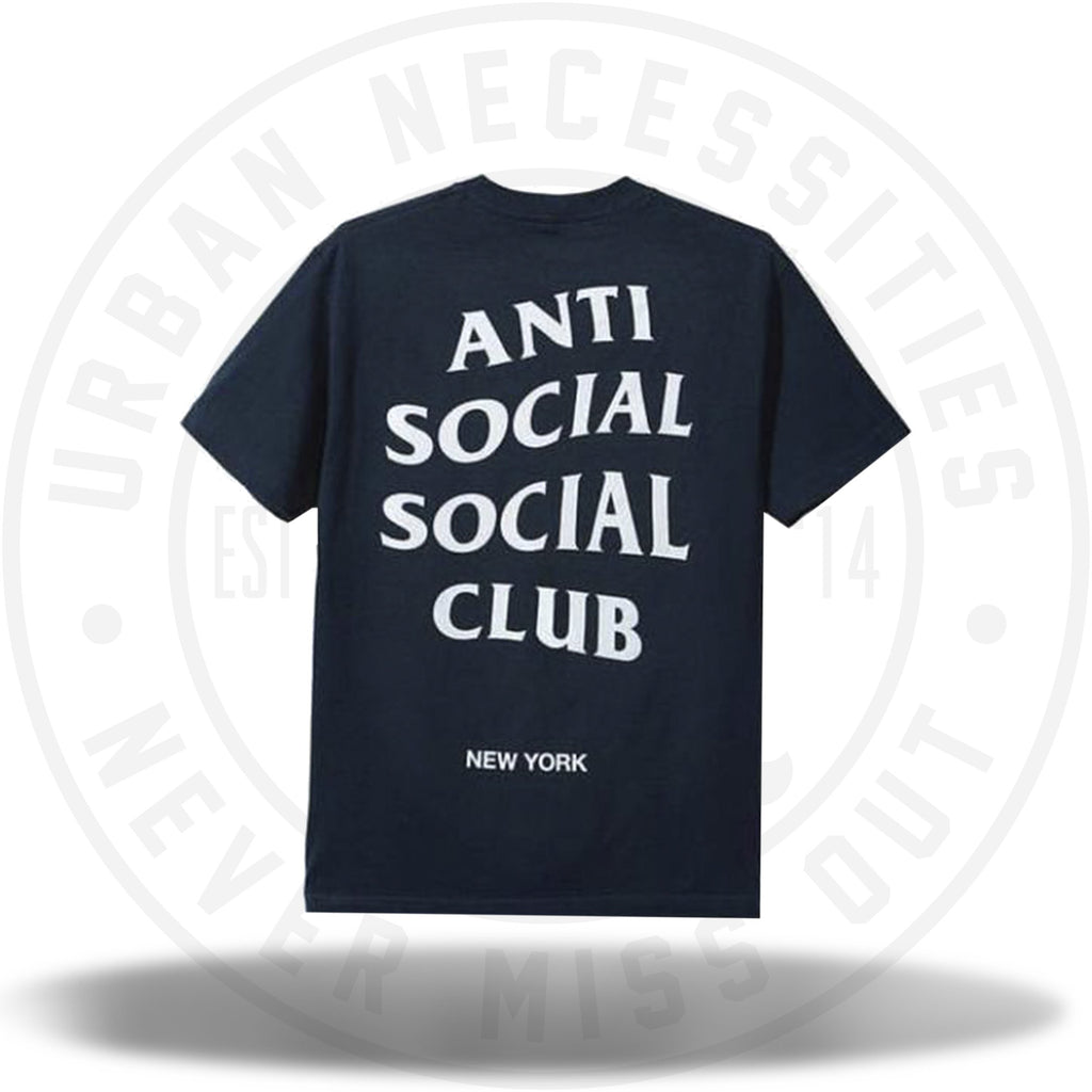 Anti Social Social Club NYC Tee Navy-Urban Necessities