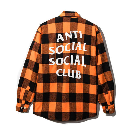 Anti Social Social Club See You Later Flannel Orange-Urban Necessities