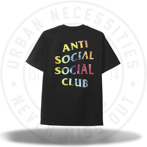 Anti Social Social Club Thai Dye Black Tee-Urban Necessities