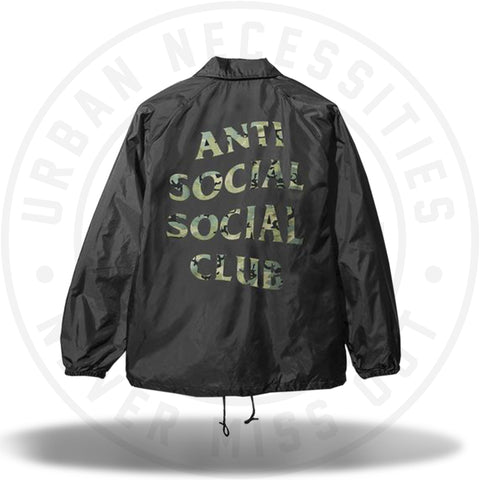 ASSC Anti Social Social Club Blair Witch Black Coach Jacket-Urban Necessities