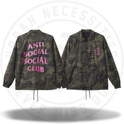 ASSC Anti Social Social Club Blair Witch Coach Jacket Camo/Pink-Urban Necessities