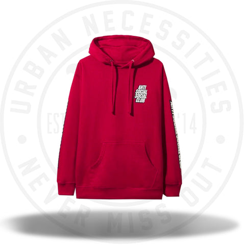 ASSC Anti Social Social Club Block Me Hoodie Red-Urban Necessities