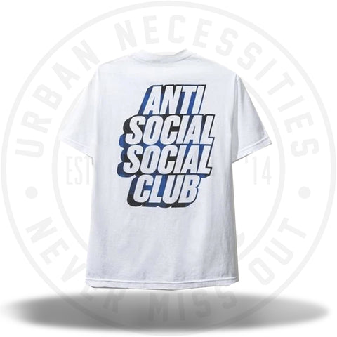 ASSC Anti Social Social Club Blocked Blue Plaid White Tee-Urban Necessities