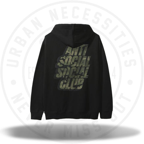 ASSC Anti Social Social Club Blocked Camo Black Hoodie-Urban Necessities