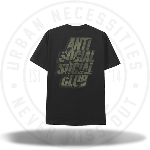 ASSC Anti Social Social Club Blocked Camo Black Tee-Urban Necessities