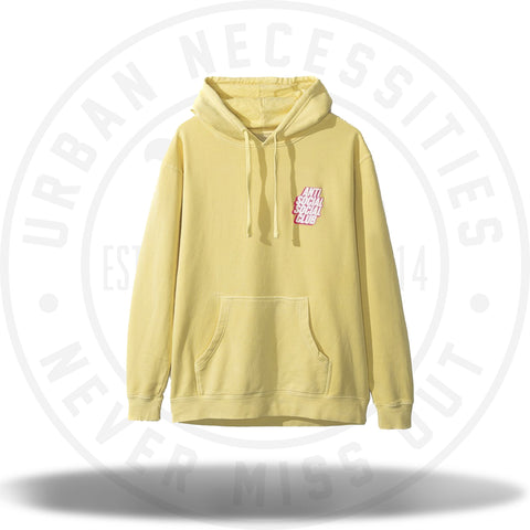ASSC Anti Social Social Club Blocked Hoodie Yellow-Urban Necessities
