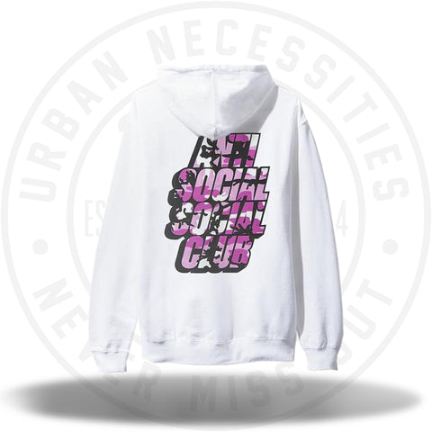 ASSC Anti Social Social Club Blocked Pink Camo Hoodie White-Urban Necessities