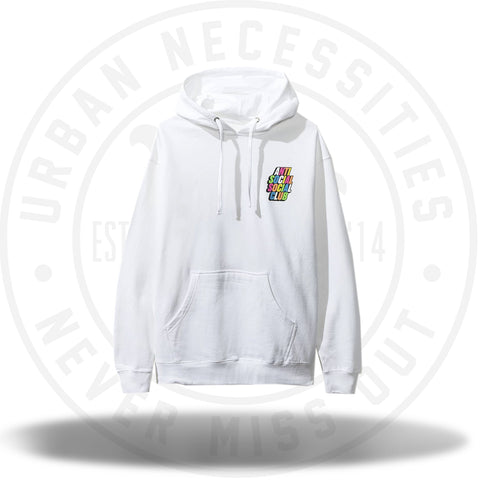 ASSC Anti Social Social Club Blocked Rainbow White Hoodie-Urban Necessities