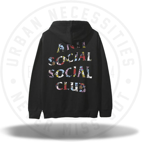 ASSC Anti Social Social Club BT21 Blended Black Hoodie-Urban Necessities