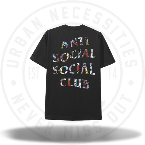 ASSC Anti Social Social Club BT21 Blended Black Tee-Urban Necessities