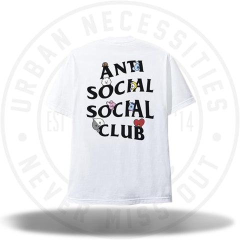 ASSC Anti Social Social Club BT21 Peekaboo White Tee-Urban Necessities