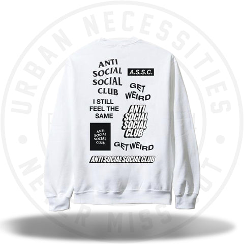 ASSC Anti Social Social Club Bukake White Long Sleeve Tee-Urban Necessities