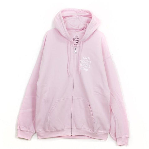 ASSC Anti Social Social Club Cherry Blossom Pink Zip Up Hoodie-Urban Necessities