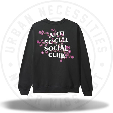ASSC Anti Social Social Club Cherry Blossum Black Crewneck-Urban Necessities